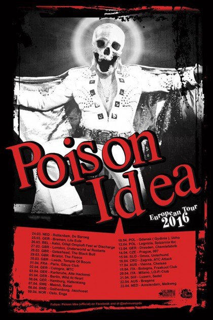 Poison Ideas schickes Elvis-Tourplakat