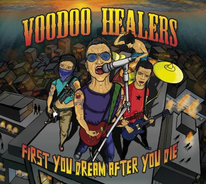 Das Cover des neuen Voodoo Healers Album First You Dream After You Die