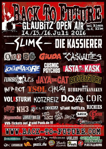 Das Back To Future Festival Ljne up 2016
