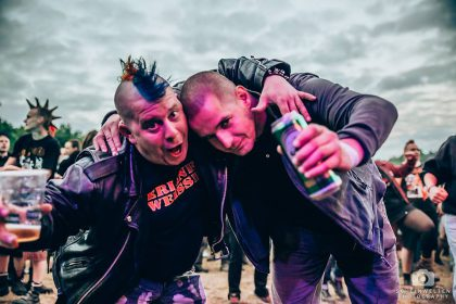 Immer wieder zu sehen: Punks 'n' Skins united